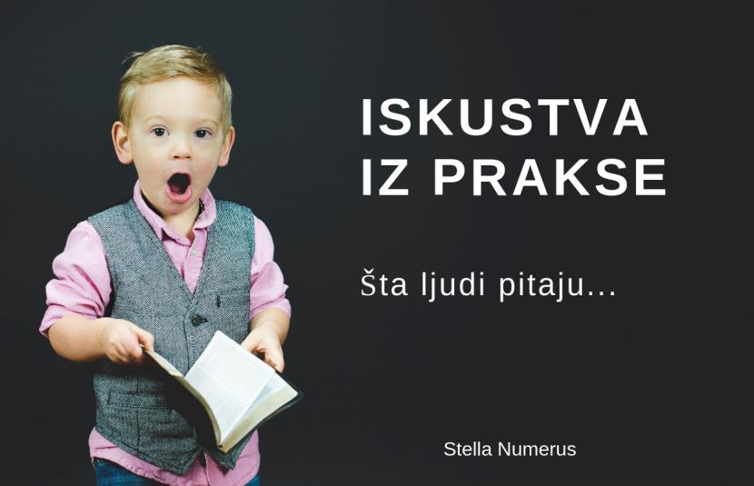 Iskustva iz prakse -Šta ljudi pitaju -Stella Numerus